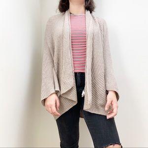 Zara  Knit cardigan long sleeves tan open front M